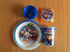 CBeebies Go Jetters Kids Dinner Set - Plate, Tumbler / Cup & Snack Pot