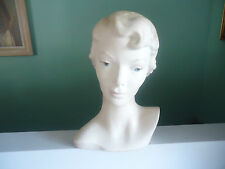 vintage art deco 1950s lady mannequin head hat shop plaster