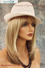 MADISON MONOFILAMENT WIG BY ENVY *SPARKLING CHAMPAGNE*ROOTED BLOND SEXY