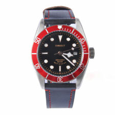 41mm Corgeut Red Aluminum Bezel Miyota Sapphire Glass Automatic Mens Watch 026