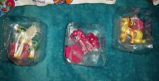 Metallic My Little Pony Mini Figures Lot of 3 Pinke Applejack & Celestia