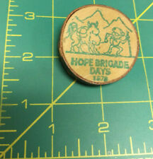 Vintage 1978 Hope Brigade Days pin made out of wood Hope British Columbia Canada