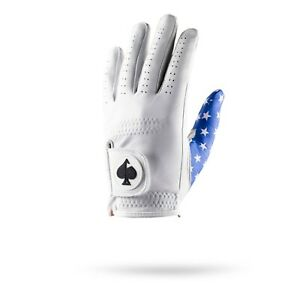 NEW Pins and Aces Blue Stars Small Men's Left Hand Golf Gloves 606-C