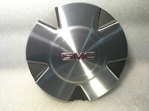 2009-2012 GMC ACADIA BRUSHED ALUMINUM CENTER WHEEL COVER HUB CAP NEW GM 9598491