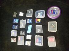 21 Assorted Brand Camera / Computer Memory Cards & Adapters SD San Disk Fuji
