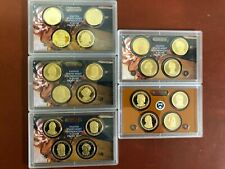 Presidential Dollars 2007 - 2011 S Proof set 20 coins No Boxes or COA's.