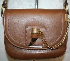 MICHAEL KORS JAMES MEDIUM SADDLE BAG DARK CARAMEL LEATHER 30F6AJYM2L