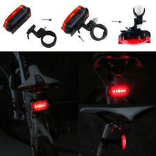 Waterproof 5 LED Bike Bicycle Cycling Warning Tail Rear Lamp Flash Light 6 Modes