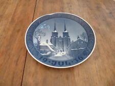 """1936 Royal Copenhagen Christmas Plate 1936 """"Roskilde Cathedral"""""""