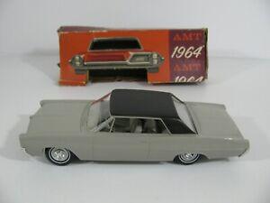 Vintage AMT Friction Drive Gray 1964 Pontiac Grand Prix Dealer Promo w/ Box EX