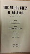 Nicolai: el feliz esposas de Windsor partitura: (G6)