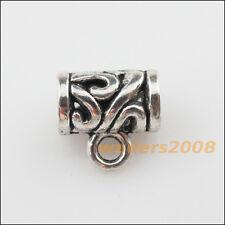 10 New Tibetan Silver Tone Flower Charms European Bail Beads Fit Bracelet 11mm