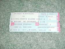 1977 Chicago Blackhawks v Czechoslovakia Kladno Hockey Ticket 12/31