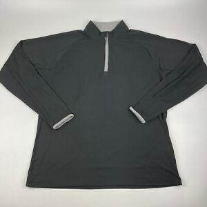 CloudVeil Men's L Base Layer 1/4 Zip Pullover Shirt Black W/ Thumb Holes