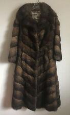 New listing Women's Vintage New Zealand Possum Fur Coat Jacket Zipper Off Bottom S - M