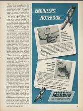 4 1951 Marman Products Ads Aircraft Parts Lockheed F-94 Northrop F-89 Scorpion