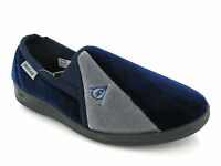 Dunlop Duncan Velour Twin Gusset Outdoor Quality Mens Slip On Slippers UK 6-13