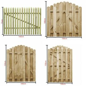 Outdoor Picket Garden Gate Impregnated Pinewood Fence Door Arched Design