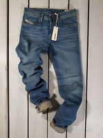RRP $174 NEW DIESEL MEN'S JEANS BUSTER 0837I REGULAR SLIM TAPERED STRETCH BLUE