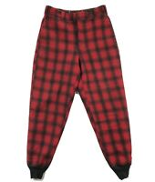 Woolrich Vintage Mens 32x30 Wool Red Buffalo Plaid Jogger Cuffed Pants
