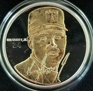 KEN GRIFFEY Jr. Signature Series Highland Mint FINE SILVER & GOLD Coin COA Card