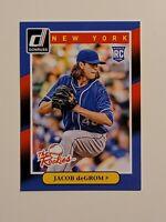 2014 Donruss The Rookies Jacob DeGrom #74 Baseball Rookie Card (RC) - NY Mets