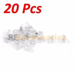 """20 Pcs 3/16"""" inch Clear Plastic Shelf Support Pin Peg for Cabinet Book Shelves"""