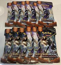 Pokemon TCG Burning Shadows Sun & Moon Sleeved Booster Pack x 12 Packs SEALED