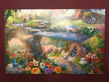 Thomas Kinkade Disney Postcard Alice in Wonderland Studio