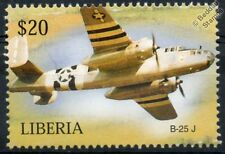 USAAF North American B-25 J MITCHELL D-Day Livery Aircraft Stamp (Liberia)