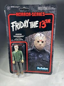 FUNKO REACTION action figure FRIDAY The 13th JASON VOORHEES Horror Movie Sealed