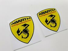 Fiat 500 595 695 punto Abarth competizione Badge wing Decals Stickers 60mm
