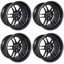 16x7 MST Suzuka 4x100/4x114.3 25 Matte Black Wheels New Set(4)