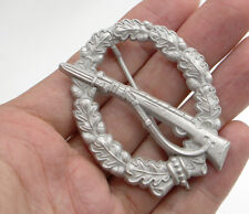 WWII WW2 German 1957 Silver German Infantry Assault badge pin back medal