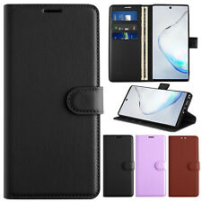 For Samsung Galaxy Note 10+ Plus Hybrid Case Flip PU Leather Wallet Stand Cover