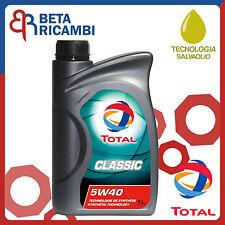 Olio motore Total Classic 5W40 Sintetico abbatte i consumi d'olio 1 Litro