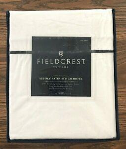 Fieldcrest Supima Satin-Stitch Hotel Sheet Set - California King (CAL-KING)