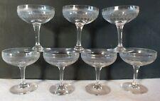 7 coupes champagne cristal gravé