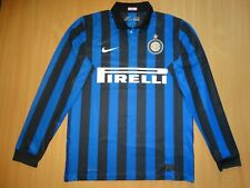 INTER MILAN ITALY  2011 2012 MAGLIA HOME FOOTBALL SHIRT LONG M SOCCER
