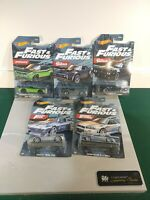 HOT WHEELS 2021  FAST & FURIOUS  COMPLETE SET OF 5 DIE-CASTS  WALMART ONLY  1:64
