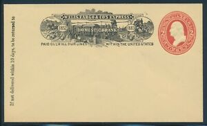 #U228 2c RED WELLS FARGO EXPRESS DOMESTIC FRANK PLAIN REQUEST COVER BU9408