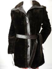 SNUGKOAT Women's Coat Vintage Fur and Leather Size 10-12 US 6-8 Made in England