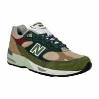 NEW BALANCE Made in UK 991 Scarpe Uomo Sneakers BEIGE GREEN M991NTG