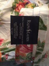 Ralph Lauren White Melissa Floral Bed Skirt Dust Ruffle Floral
