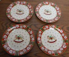 DISCONTINUED Kobe Charlton Hall Rocking Horse Dessert Plate Set of 4 NIB