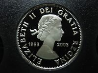 2003 50th Anniversary Coronation of Queen Elizabeth II Canadian Silver 50 Cent
