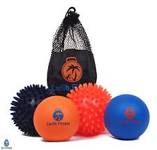 2 PACK Myofascial Release Massage Ball + Firm Spiky Ball For Plantar Fasciitis