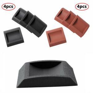 4 PVC Caster Cups Anti-Noise Foot Leg Pad Cap Floor Protector For Upright Piano