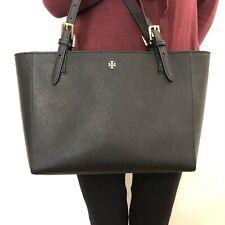 NWT Authentic Tory Burch 49127 Emerson Small Buckle Tote Handbag Black $295