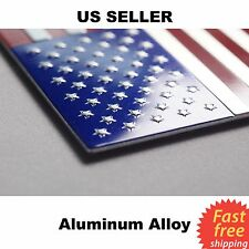 "3D Metal US American Flag Emblem Sticker Decal | High Grade Aluminum 3.15""x1.75"""